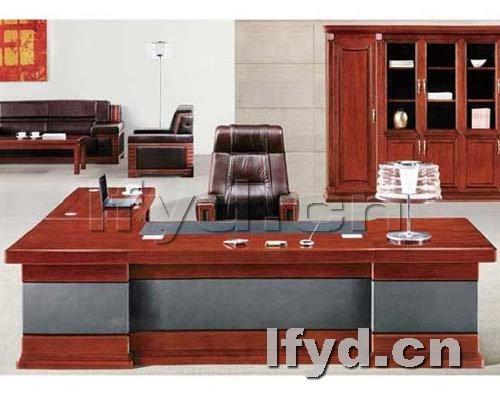 天津办公家具提供生产紫檀木纹石老板桌板台厂家