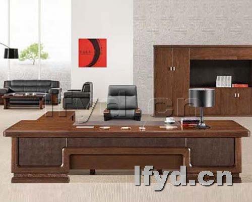 高档实木老板台图片|老板台|天津办公家具提供生产台