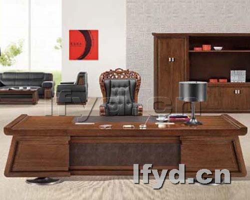 天津办公家具提供生产新款红木老板台厂家
