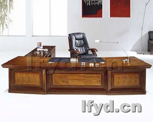 天津办公家具提供生产大气简约型老板台图片厂家