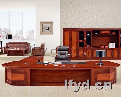 天津办公家具提供生产大气紫檀木老板台厂家