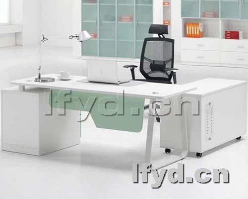 天津办公家具提供生产钢架板式经理台图片厂家