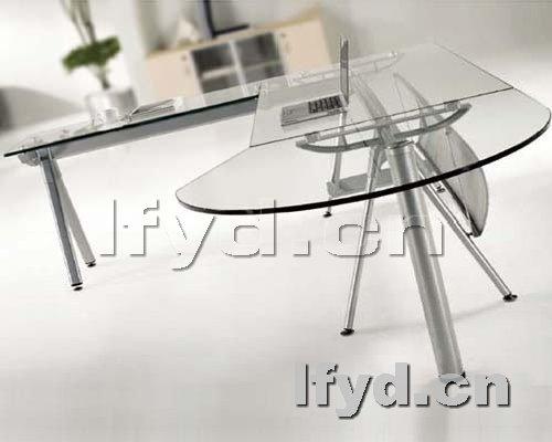 天津办公家具提供生产玻璃经理台厂家