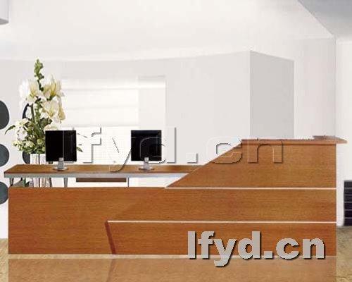 天津办公家具提供生产时尚板式前台厂家